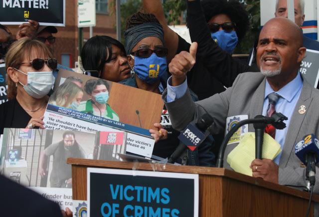 Parole officers, crime victim advocates rally against 'Less is More' parole reform